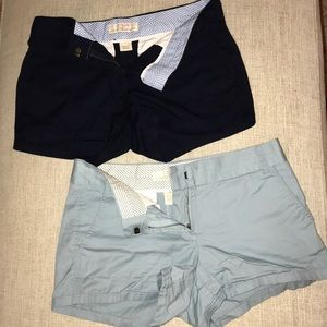 J.crew broken in chino preppy shorts set of 2